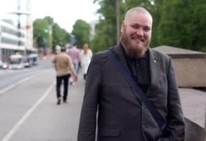 Niko Peltokangas valittiin Yleisen Lehtimiesliiton puheenjohtajaksi. (Kuva: Tero Kaikko)