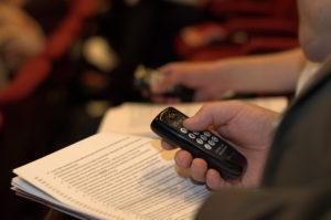 Sähköinen äänestys toimi sunnuntain tavoiteohjelmakäsittelyssä hyvin. (Kuva: Tero Kaikko)
