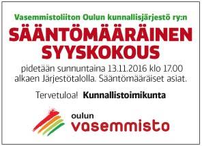 Vasemmistoliiton Oulun kunnallisjärjestö ry
