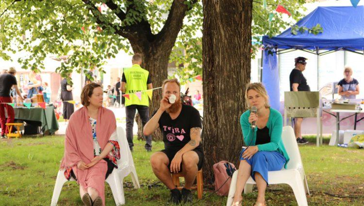 Pauliina Vanhatalo, Lauri Ahtinen ja Silja Kejonen